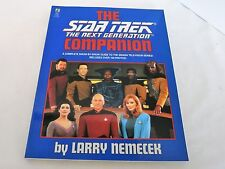 1992 Star Trek The Next Generation Companion Trade Paperback  Pocket Books New