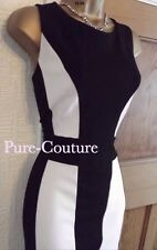 Gorgeous ❤ BNWT Wallis Black White Pencil Wiggle Party Dress Size 16 Wedding
