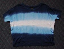 Women's DKNY JEANS Blue Knit Top - 100% Cotton - Size L - Very Nice!