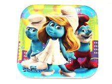 """~THE SMURFS  ~~  8- PAPER LUNCH  PLATES 9"""". - PARTY  SUPPLIES"""