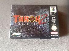 Jeu Nintendo 64 (N64) - Turok 2 Seeds of evil - NEUF sous blister + BO Turok 1