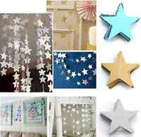 Stars Hanging Paper Garlands Wedding Party Birthday Baby Shower Table DIY Decor