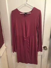 Streetwear Society Woman Size XL Mauve Long Sleeve Stretch Dress