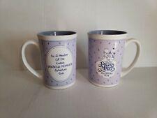 Lot Of 2 1988 Precious Moments Coffee Mug Collectors' Club Member Endometriosis