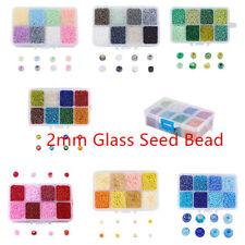 12500 un./Box Amarillo Azul Rojo Negro pequeñas cuentas de vidrio opaco redonda granos 12/0-2mm