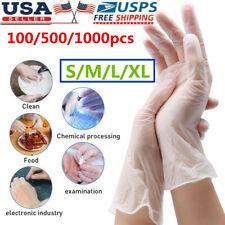 100 1000pcs Pvc Transparent Food Gloves Safety Work Gloves Cooking Gloves Medium