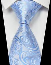 Hot!Classic Checks Yellow Blue White 100% Silk Men's Wedding Necktie 3.15''(8CM)