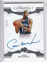2018-19 Cedric Maxwell #1/25 Auto Panini Flawless Clippers