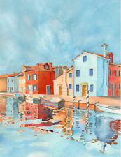 "original landscape watercolor ""venice scene"" 8x10 inch architecture painting art"