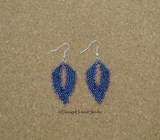 Peyote Earrings - Miyuki Beads - Art Deco - Leaves