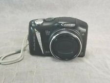 Canon PowerShot SX130 IS 12.1 MP Digital Camera w/ Memory Card - Black TESTED