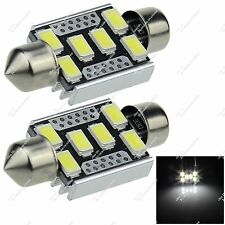 2X Festoon 36MM 6418 6 SMD 5630 LED RV Roof Light Canbus Error Free Auto ZI124