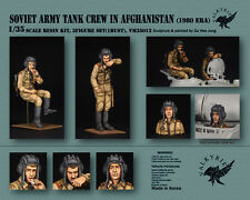Scala 1/35 in resina figura KIT esercito sovietico TANK CREW in Afghanistan - 1980 era 2fig
