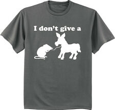 funny shirts for men I don't give a rat's ass decal tee shirt men's clothing