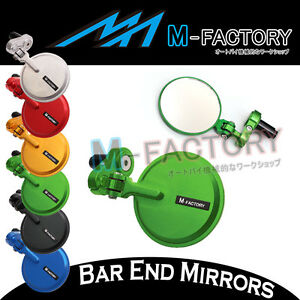Aichi Folding CNC Billet Bar End Mirrors For Yamaha MT-07 FZ-07 14-16