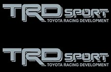 TRD SPORT SILVER Decals /Vinyl Stickers 1 PAIR TOYOTA TRUCK GRAPHICS LETTERING