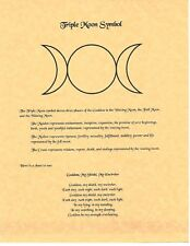 Book of Shadows Spell Pages ** Triple Moon Symbol ** Wicca Witchcraft BOS