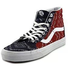 e99eb6e7be6 New Vans SK8-Hi Reissue Ditsy Bandana Blue Red Unisex Hi Top Shoes 4