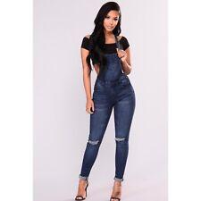 cbcb4e53f2 Fashion Nova Denim Jeans Jumpsuit Overalls - American Bazi - M