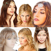 Women Rhinestone Head Chain Tassel Fashion Jewelry Headband Head Piece Hair band