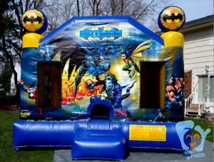 25x25x15 Commercial Inflatable Batman Obstacle Course Bounce House Castle Slide