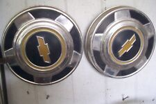 1970's 1980's CHEVY CHEVROLET  PICKUP TRUCK DOG DISH HUBCAPS (3)