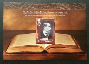 *FREE SHIP Gibraltar 2012 Famous People Book (ms) MNH