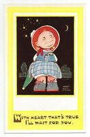 """Mabel Lucie Attwell 1940's POSTCARD 5211 """"WITH HEART THAT'S TRUE..."""" Unposted"""