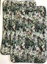 2 Laura Ashley Ashbourne QUEEN/KING Pillow SHAMS Blue Pink Green Floral 20x34