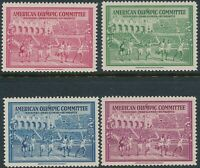Stamp Label US 1940 WWII War American Committee Olympic Helsinki Finland Set MNH