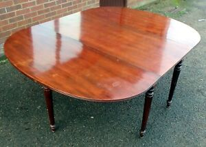 Regency antique large country house solid Cuban mahogany dining table seats 10+