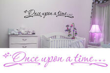 Once upon a time wall decal sticker, nursery decor, princess bedroom wall decor