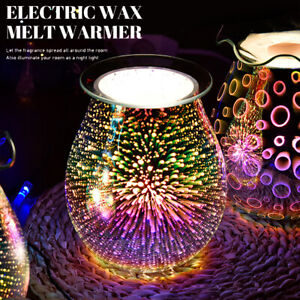 Electric Wax Melt Burner Desire Aroma Lamp 3D Touch Night Light Tart Wax Warmer~