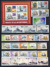 Ships and Boats mnh vf sets and sheets on 2 stockpages with values to 20.00