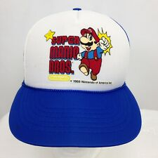 Vintage Super Mario Bros Nintendo Hat Cap Authentic 1988 Snap Back Adult Sz M/L