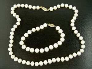 14k gold pearl setfresh water pearl set2 pieces pearl setwedding pearl setmother/'s day giftbride jewelryChristmas set gift