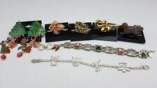 Signed Christmas Jewelry Wearable Lot MK232