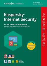 KASPERSKY INTERNET Security 2018 , licenza 3 PC > 1 ANNO - KL1941T5CFS-8SLIM - I