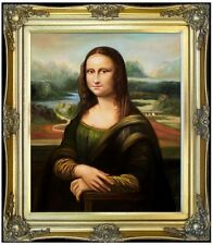 Framed Leonardo da Vinci Mona Lisa Repro, 100% Hand Painted Oil Painting 20x24in