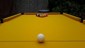 American Pool Table Recover Service Yellow Recloth Re Baize Refelt Repair North