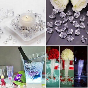 200Pcs/Pack Clear Fake Crushed Ice Rocks Ice Cubes Acrylic Vase Fillers Stones