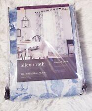 """2  allen + roth Lyla Blue Toile Floral Rod Grommet Curtain Panel Drapes 84"""" Each"""