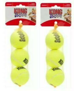 "Kong SQUEAKAIR TENNIS BALLS - 6 ct MEDIUM 2.5"" Dog Chew Toy (3 ct or Individual)"