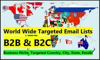 Business Email database, Targeted email database, B2B email lists, B2C emails