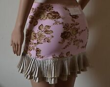 Wheels & Dollbaby baby pink floral leaf mini pleated skirt BNWT 1 6 8 10 RRP£189