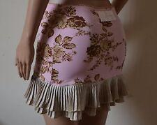 Wheels & Dollbaby baby pink floral leaf mini pleated skirt BNWT 1 6 8 10 RRP£189