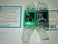 Remanufactured 350 Black & 351 XL Colour Ink Cartridge fits HP see listing descr