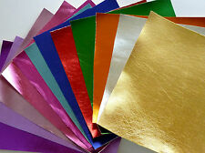A4 sheet Metallic Faux Leather Fabric for bow making and crafts