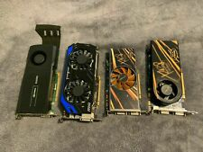 Lot of 4 Quadro 5000 , MSI ,GEFORCE, FOR PARTS. N660TI,GTS250, 9800GTX .ASIS