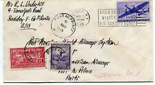FFC 1946 Flight Cover Pan American World Airways System Air Mail Test Haiti NY